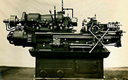 The originally patented planrevolver type NC (1933) and the multi-spindle automatic lathe